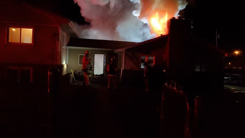 A two-alarm structure fire in New Underwood moderately damaged a home and nearby structures...