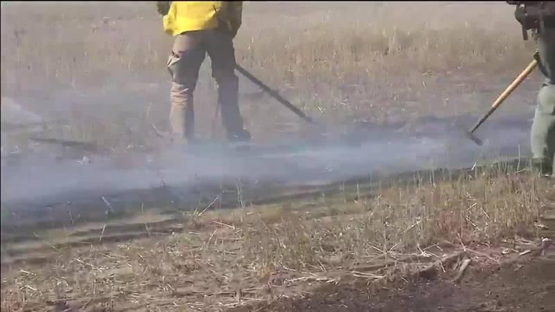 Fire near Rapid City Regional Airport crisps 110 acres of land