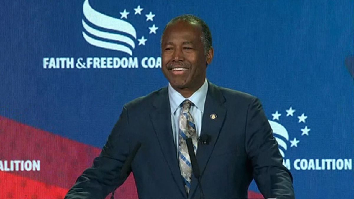 Housing and Urban Development Secretary Ben Carson was cleared of any wrongdoing by the HUD internal watchdog in connection with a $31,000 furniture order. (Source: CNN/Pool)