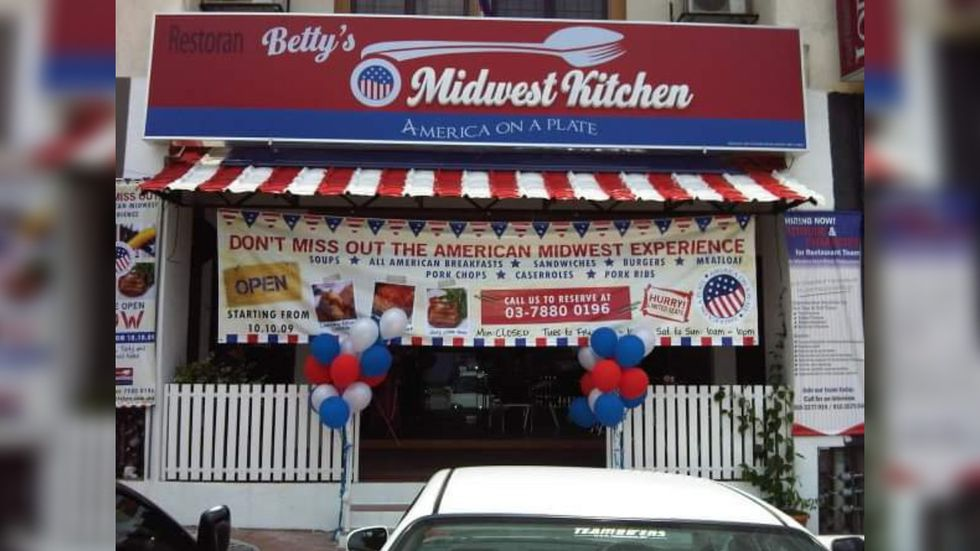 Betty's Midwest Kitchen, a Midwest-inspired diner in Petaling Jaya, Malaysia, served as the...