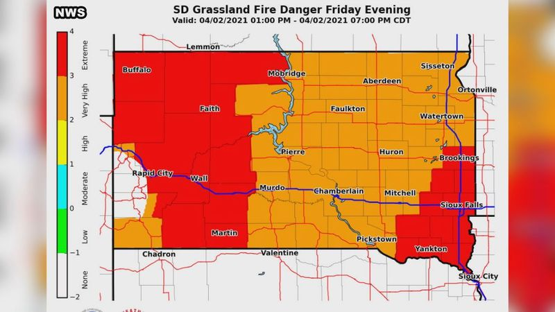 The National Weather Service is listing much of Western South Dakota as being under extreme...