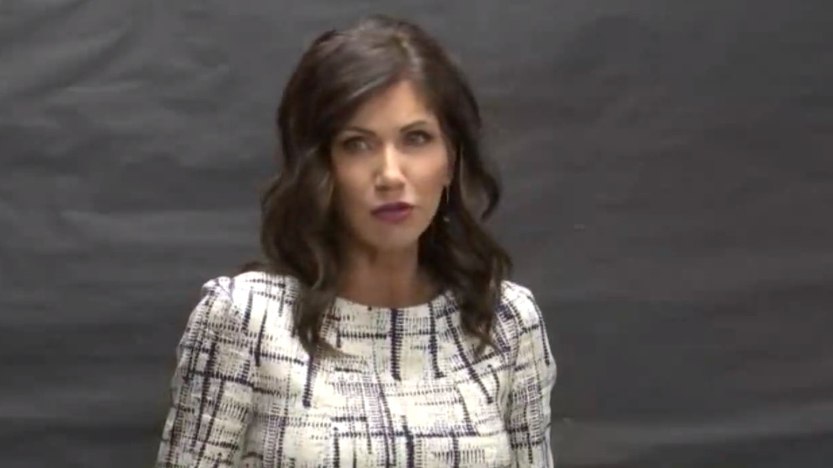 Gov. Kristi Noem is discussing South Dakota's plan to return to school amid the COVID-19 pandemic.