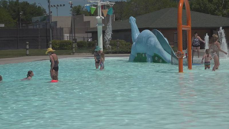 This is the first time in 21 months that pools have been open, as they were closed last summer...