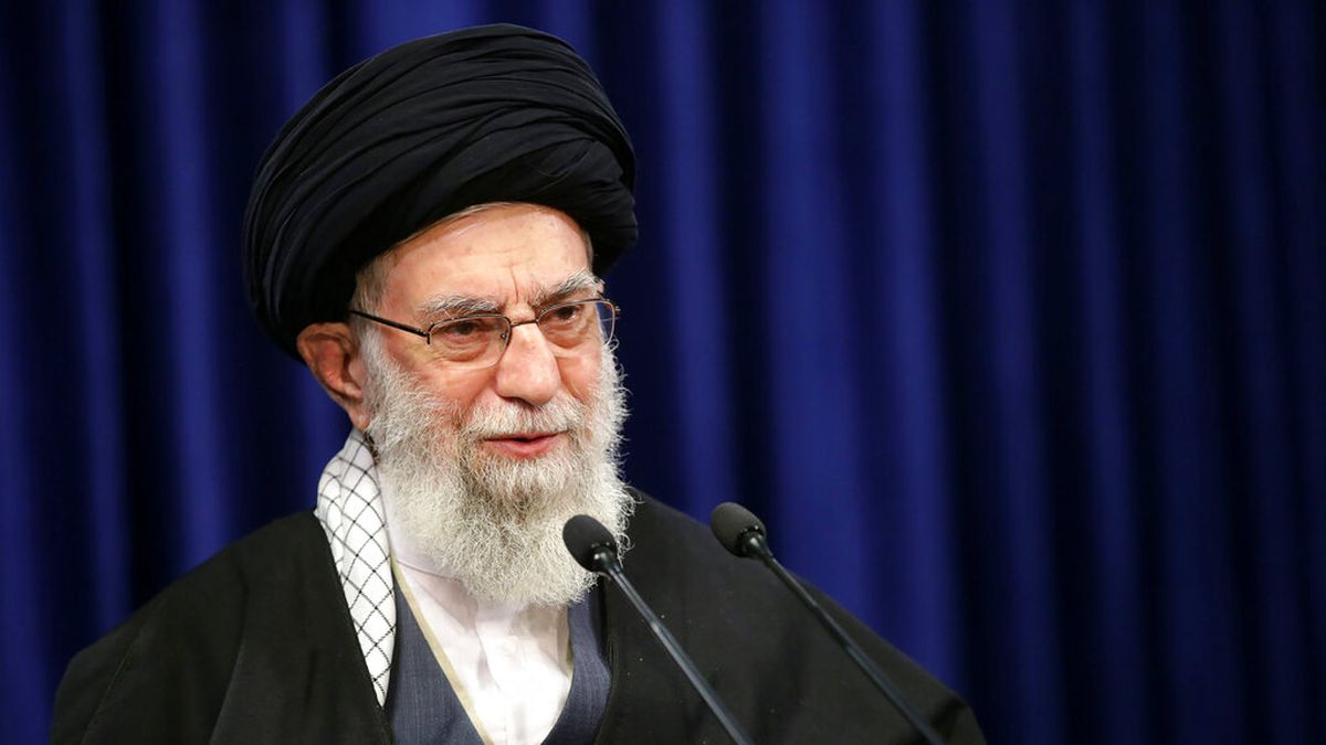 In this picture released by an official website of the office of the Iranian supreme leader,...