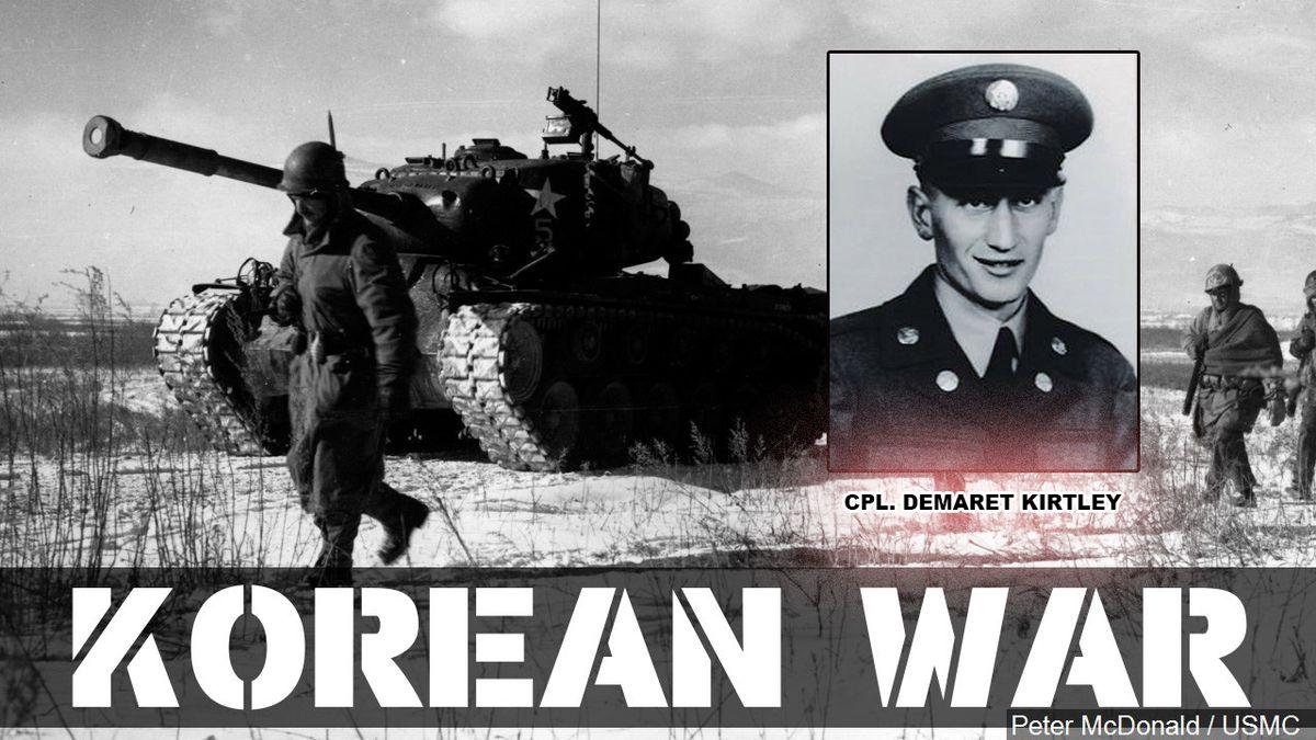 U.S. Army Corporal DeMaret Marston Kirtley of Kaycee, Wyo., was killed during the Korean War...