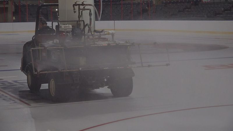Crews are getting the ice ready for the upcoming season.