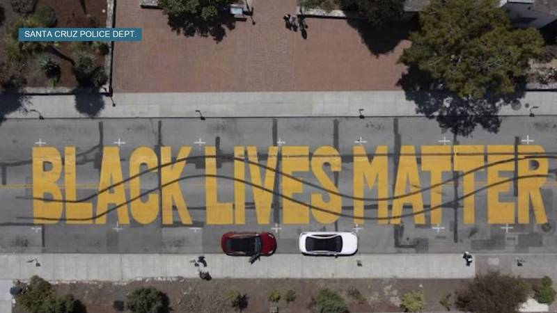 Officials in Santa Cruz, California, addressed the community Sunday after a Black Lives Matter...
