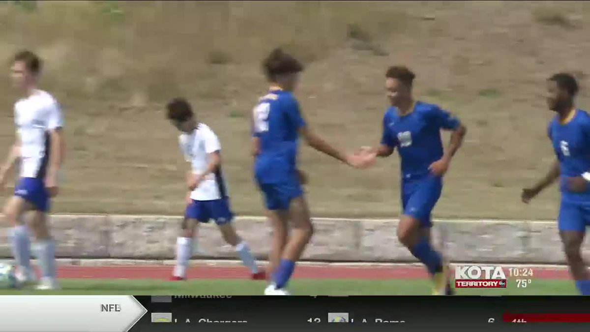 the Aberdeen Central soccer teams shut out the RC Christian-Douglas-New Underwood Patriots...