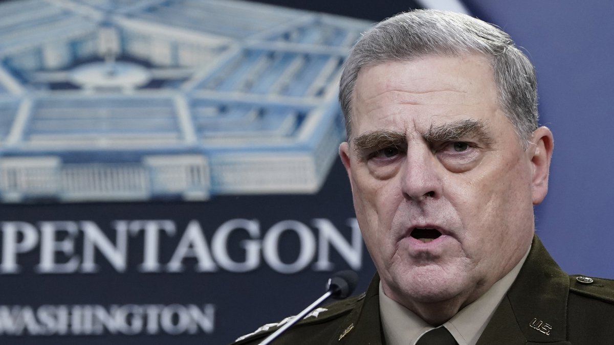 FILE - In this Sept. 1, 2021, file photo Chairman of the Joint Chiefs of Staff Gen. Mark Milley...