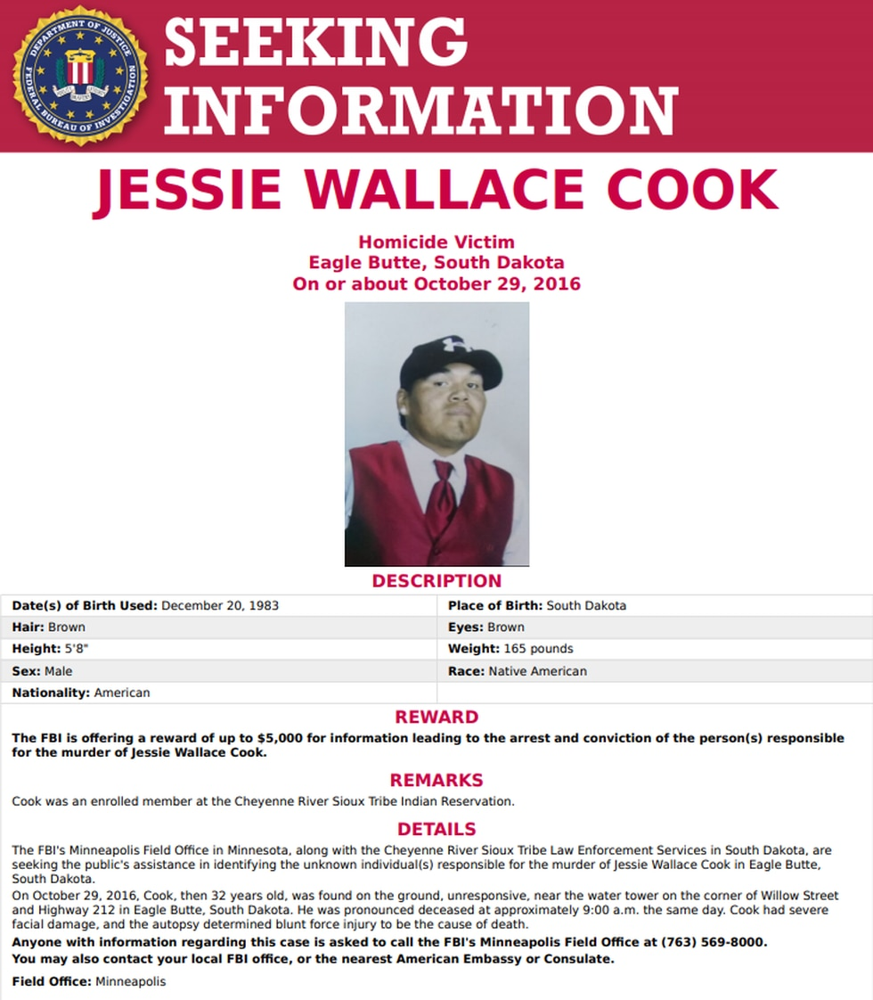 Reward poster from the FBI.