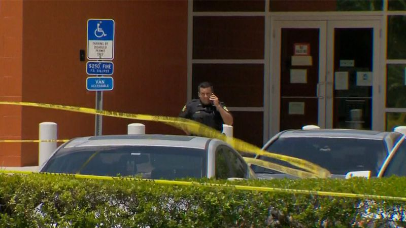 A U.S. customs office in Orlando became a crime scene after Monday's deadly shooting.