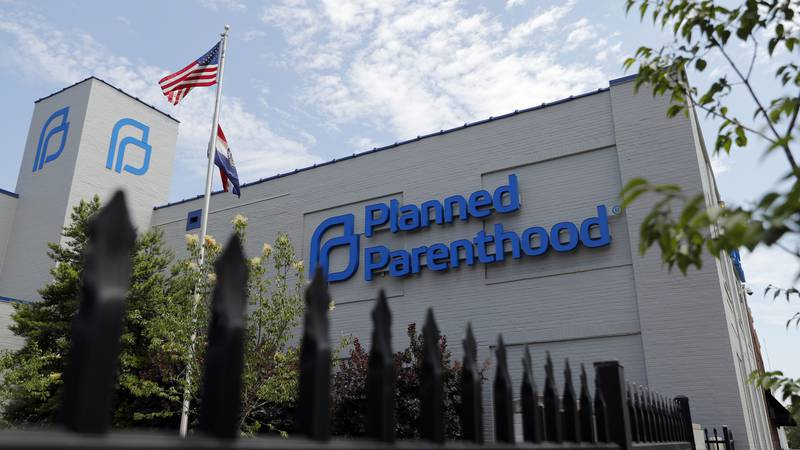 FILE - In this Tuesday, June 4, 2019 file photo, a Planned Parenthood clinic is seen in St....