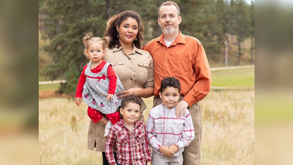 Whitney Raver, here with her family, announces Monday that she is a Democratic candidate for South Dakota's lone U.S. House seat. (photo courtesy Whitney Raver campaign)