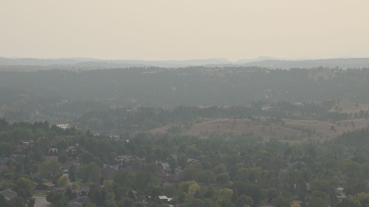 "The air quality index listed as ""good"" in Rapid City on Wednesday."