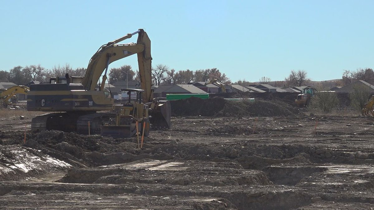 A new development going up on the east side of Rapid City.