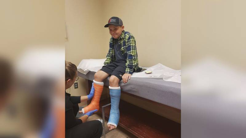 For 8 weeks Brady Thompson has been in double casts and will be for a little while longer. But...