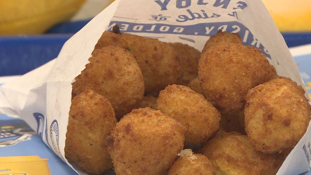 Deep-fried cheese curds at Culver's on National Cheese Curd Day.