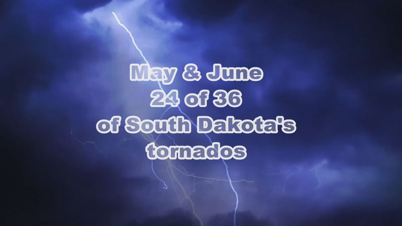 The months see most of South Dakota tornados.