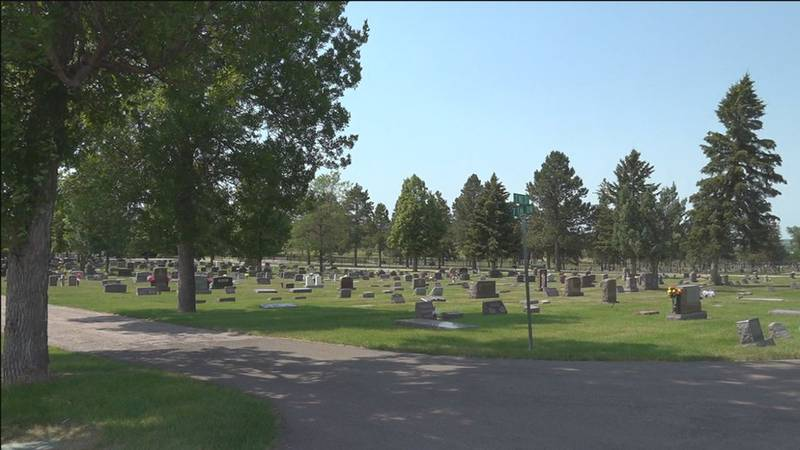 The cemetery will expand south in the fall.