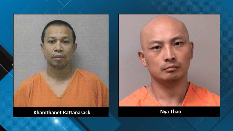 41-year-old Khamthanet Rattanasack and 33-year-old Nya Thao are suspects in a triple homicide...