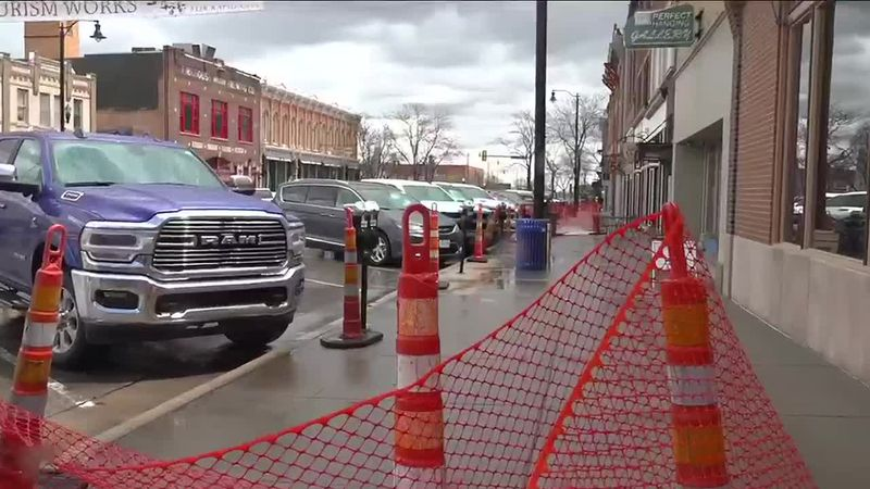 The project is currently blocking off a few Rapid City sidewalks.
