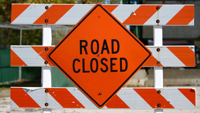 A portion of West 3rd Street is closed in Davenport for emergency work according to Public Works.