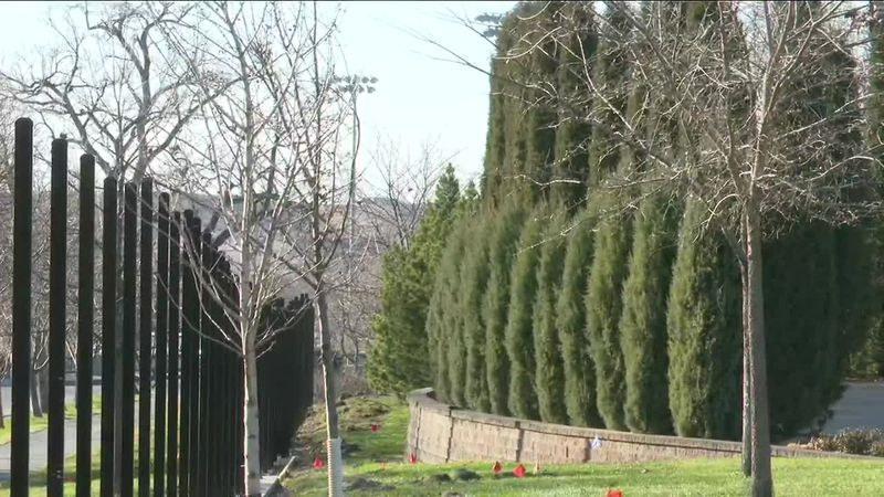 Construction on the Governor's Mansion Fence in Pierre, South Dakota is well underway after...
