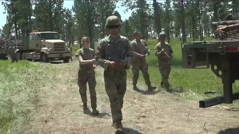 SD National Guard's 'Golden Coyote' training helps in shipping timber to Pine Ridge