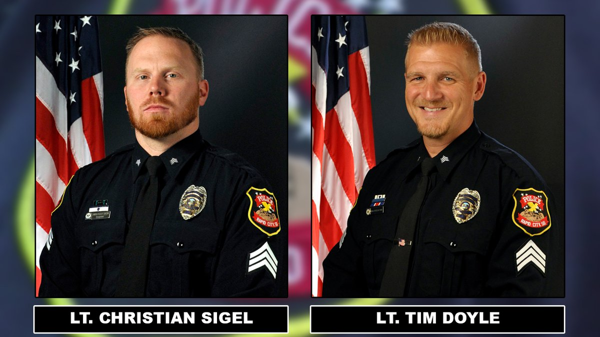Tim Doyle and Christian Sigel of the Rapid City Police Department have been promoted to...