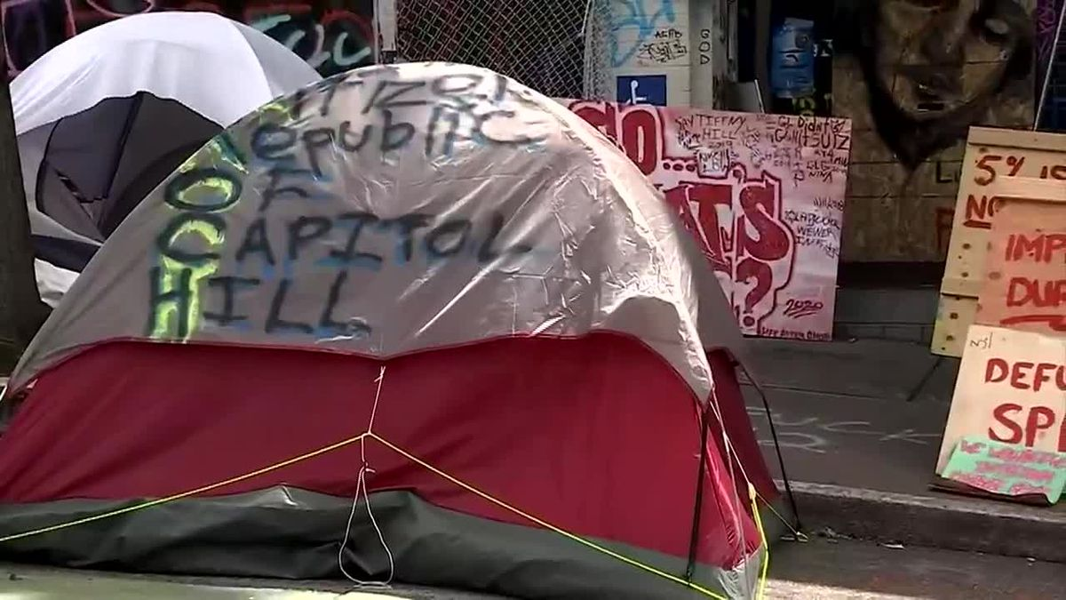 "Protesters continued to hold Seattle's ""occupied zone"" despite promises from..."