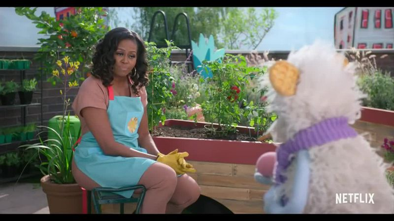Michelle Obama's cooking show for kids hits Netflix.
