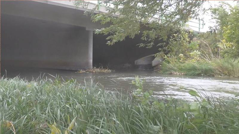 The area by Rapid Creek the man was found dead.