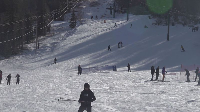 People hitting the slopes for the holidays.