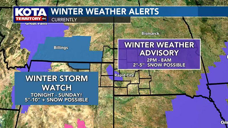 Current Winter Weather Advisories