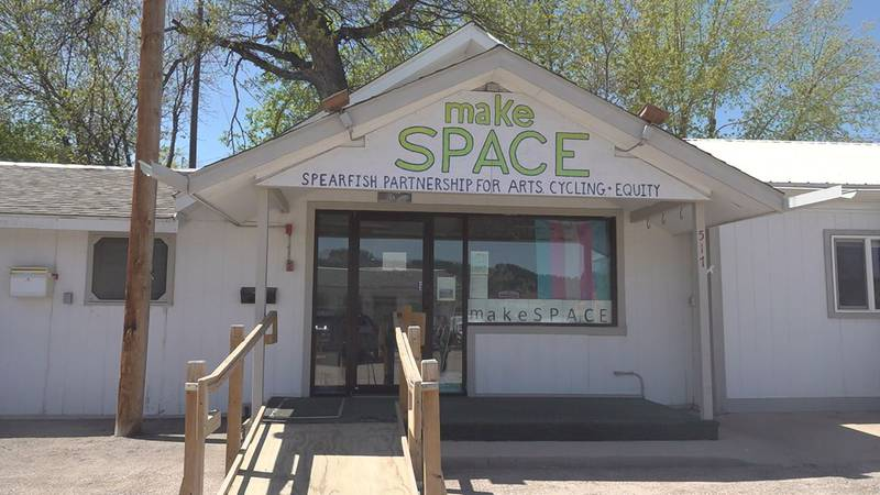 An organization in Spearfish, makeSPACE, was one of many who made masks for their community....