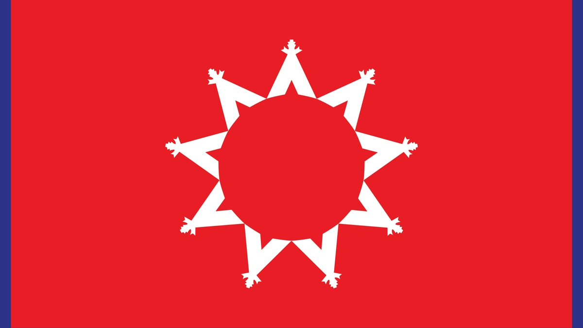The flag of the Oglala Sioux Tribe.