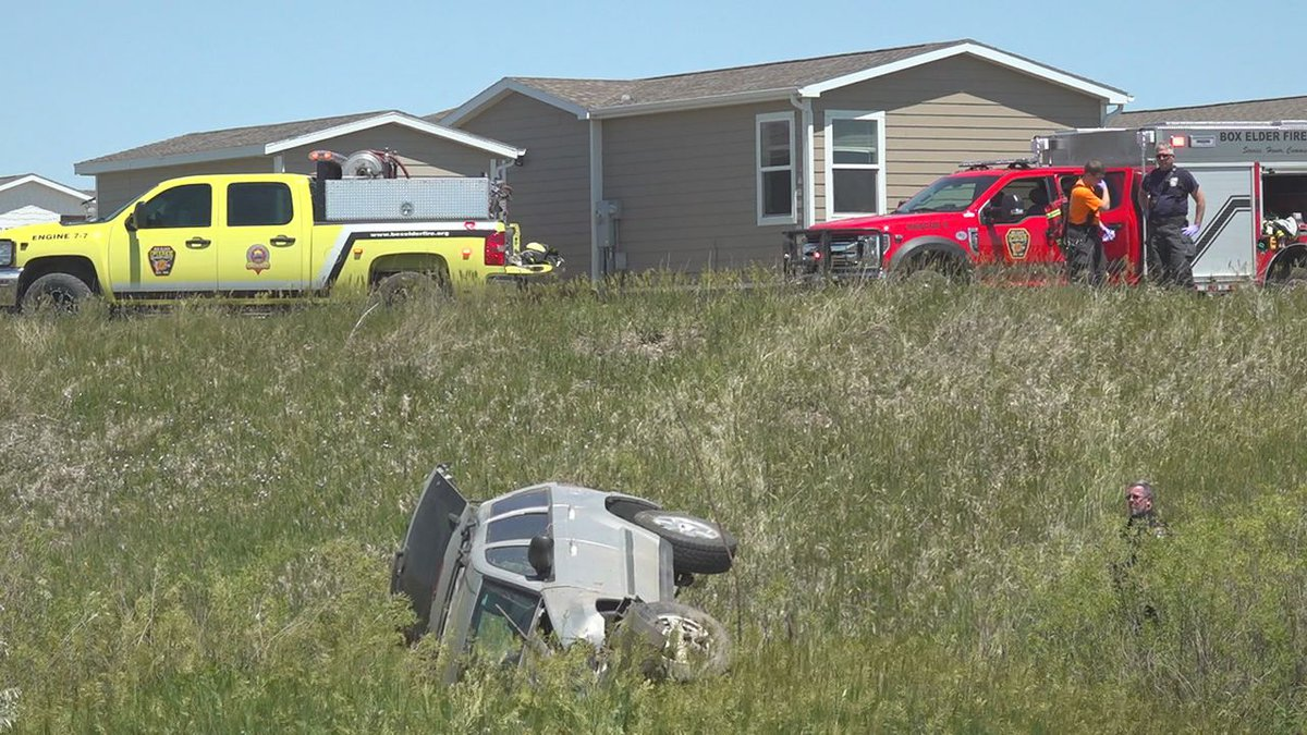 Box Elder police say the woman was driving on Highway 1416 near Trenton Ln. when she drove into...