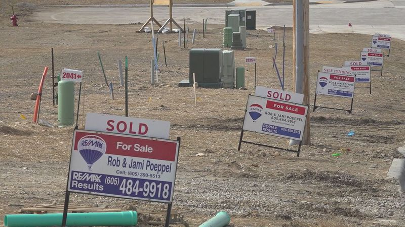 Houses are being sold before they are built.