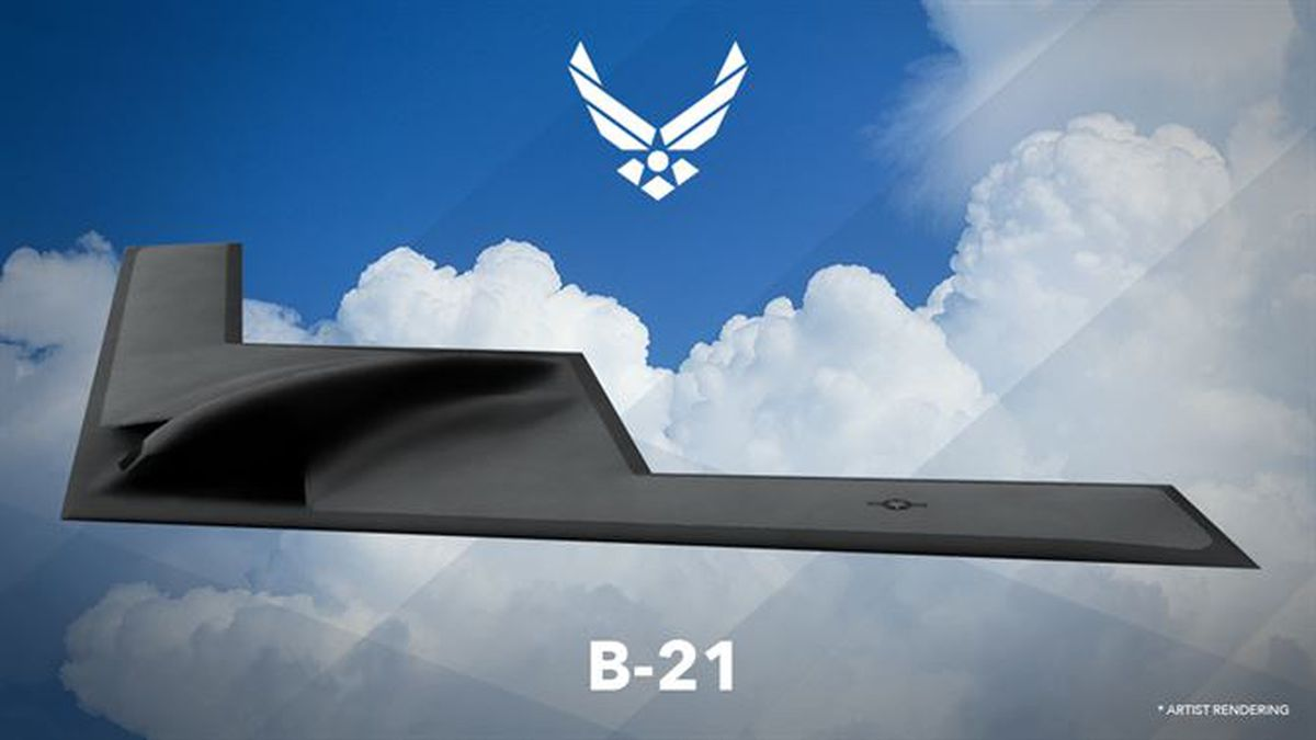 Artist rendering of the new B-21 bomber