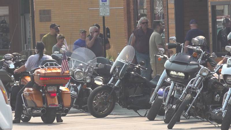 Several parking lots in Sturgis have already been turned into vendor areas or special bike...