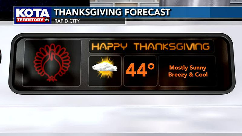 Rapid City Thanksgiving Day Forecast
