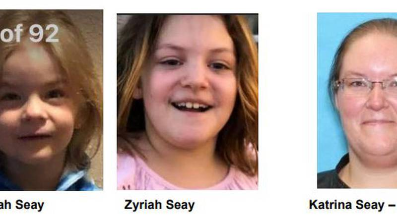 Jeremiah Seay, a five-year-old boy, and Zyriah Seay, a 9-year-old girl are believed to have...