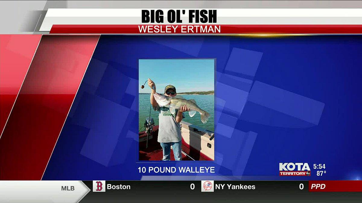 Wesley Ertman catches a 10-pound Walleye