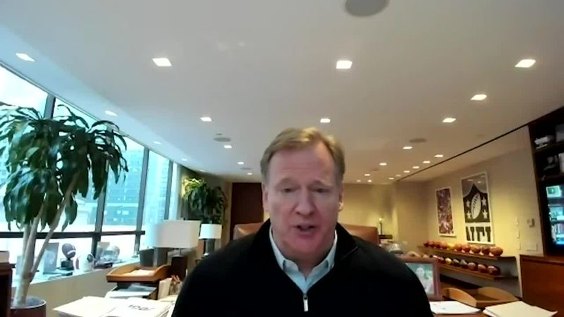 NFL commissioner Roger Goodell surprises health care workers with Super Bowl tickets.