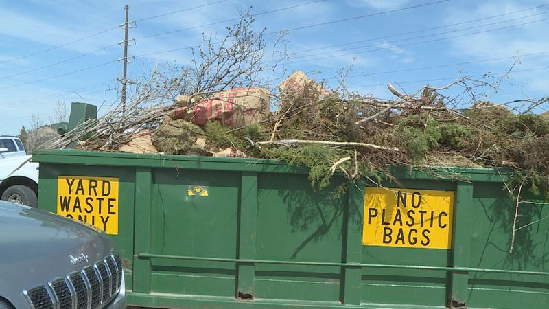 Yard waste drop-off