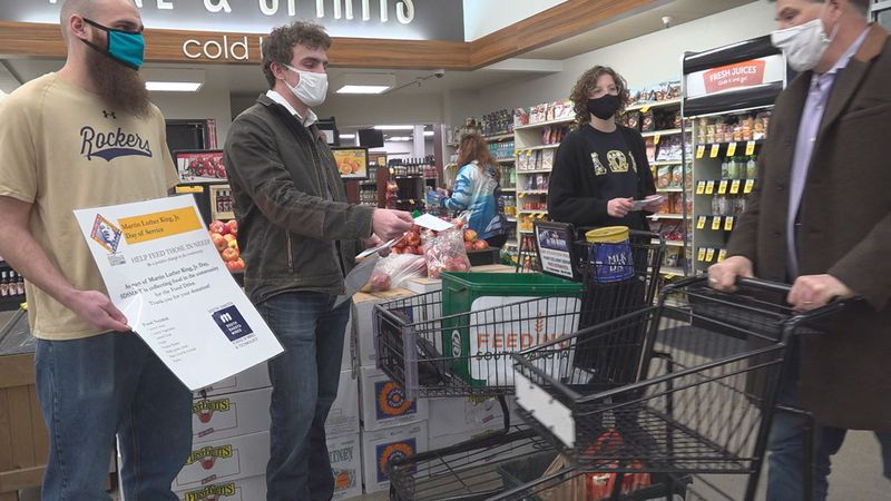 Members of a variety of student organizations have been volunteering to collect food and cash...