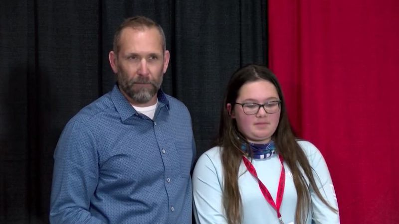 Jonathan Bauer and his 13-year-old daughter were headed home when they were involved in a...
