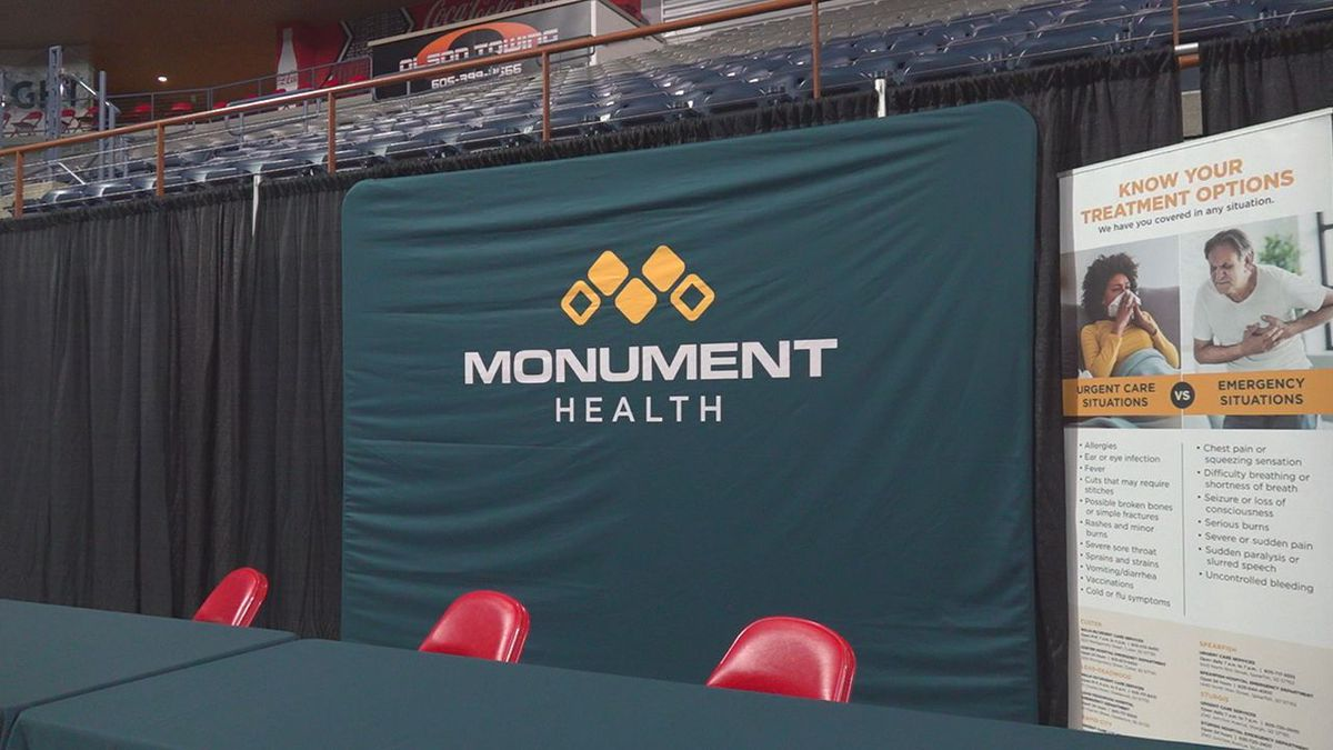 For the second year in a row, Monument Health is setting up shop in the ice arena with health...