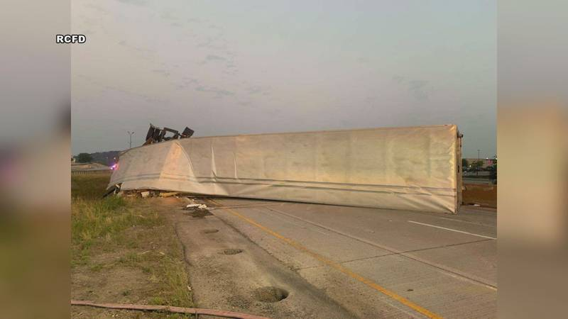 Interstate closed early Monday morning.
