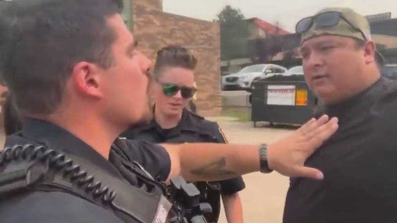 Nick Tilsen confronted two officers, who were on NDN Collective, private property, with...